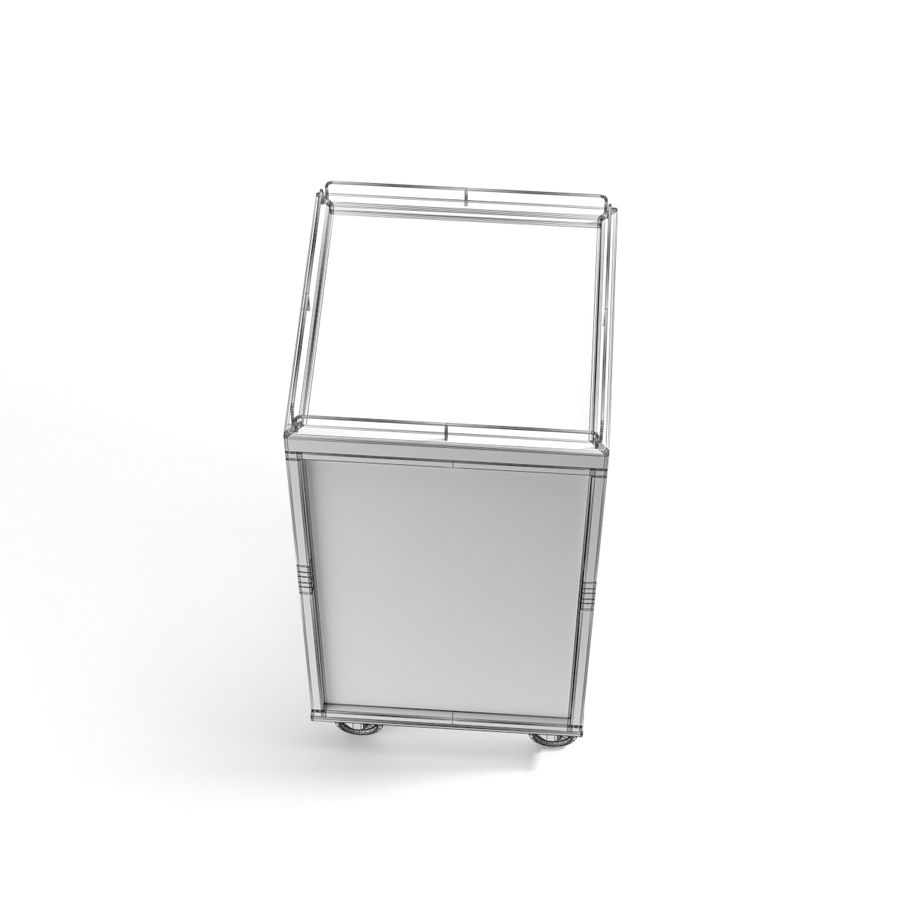 Metall Medical Cart royalty-free 3d model - Preview no. 14