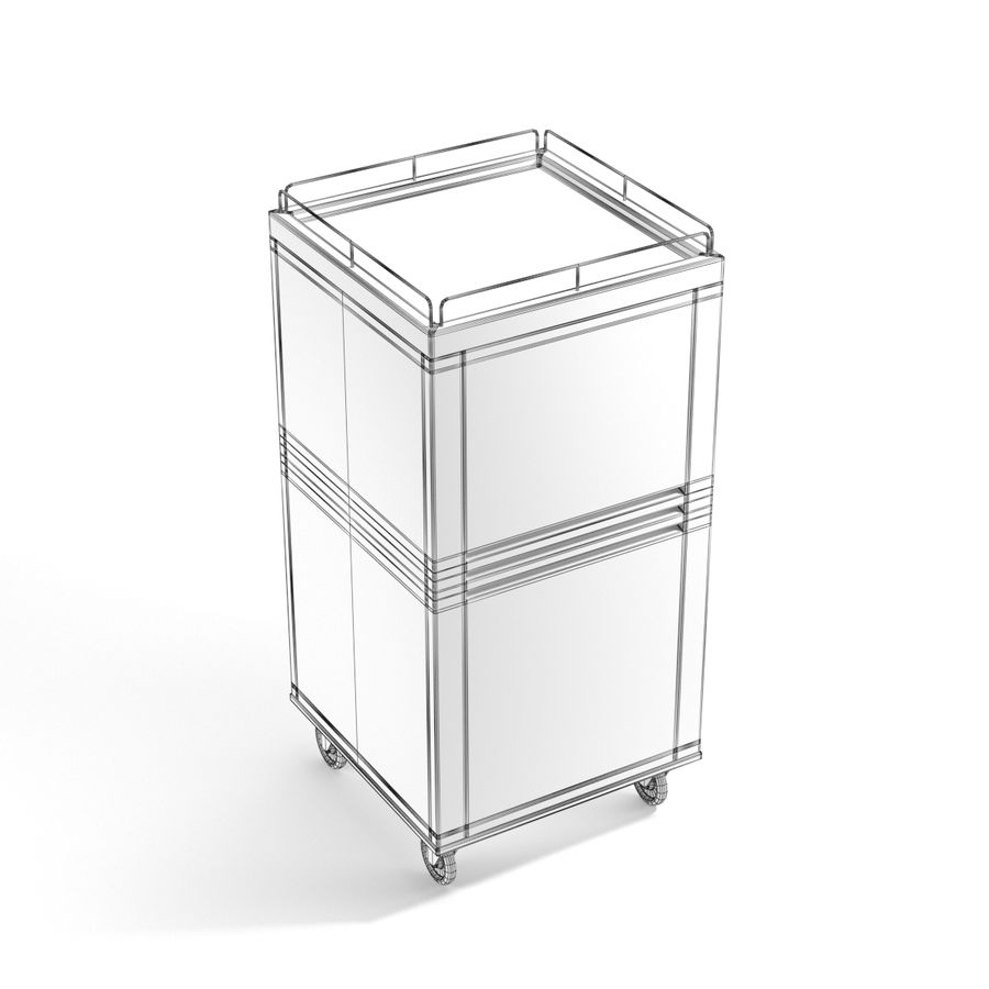 Metall Medical Cart royalty-free 3d model - Preview no. 12