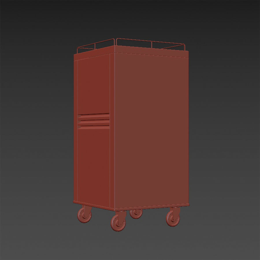 Metall Medical Cart royalty-free 3d model - Preview no. 18