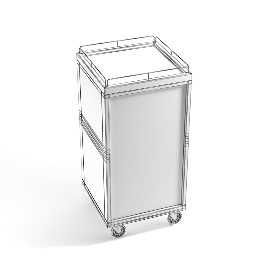 Metall Medical Cart royalty-free 3d model - Preview no. 13