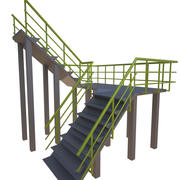 Industrial stairs 3d model