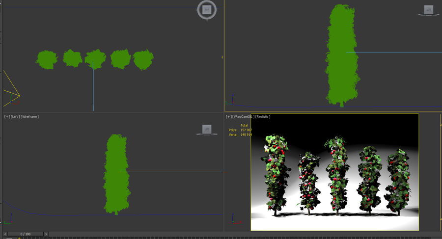 column apple tree set malus royalty-free 3d model - Preview no. 6