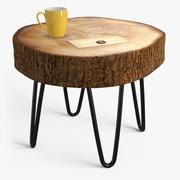 Stumpf Tisch 3d model