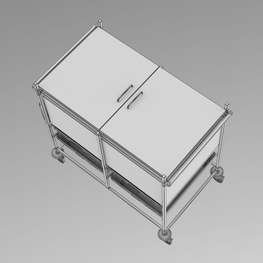 Medical Cart 2 royalty-free 3d model - Preview no. 19