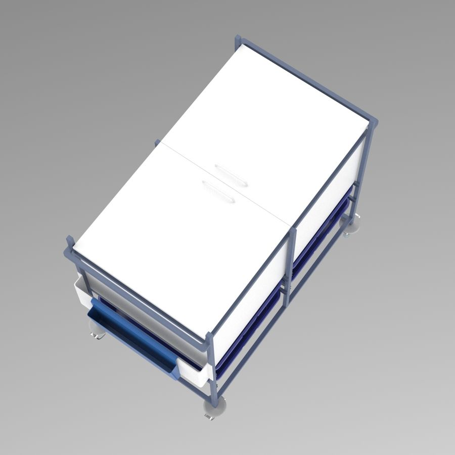 Medical Cart 2 royalty-free 3d model - Preview no. 10