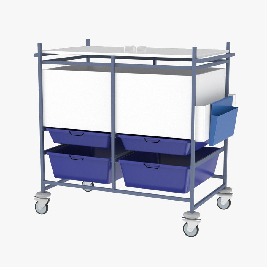 Medical Cart 2 royalty-free 3d model - Preview no. 1