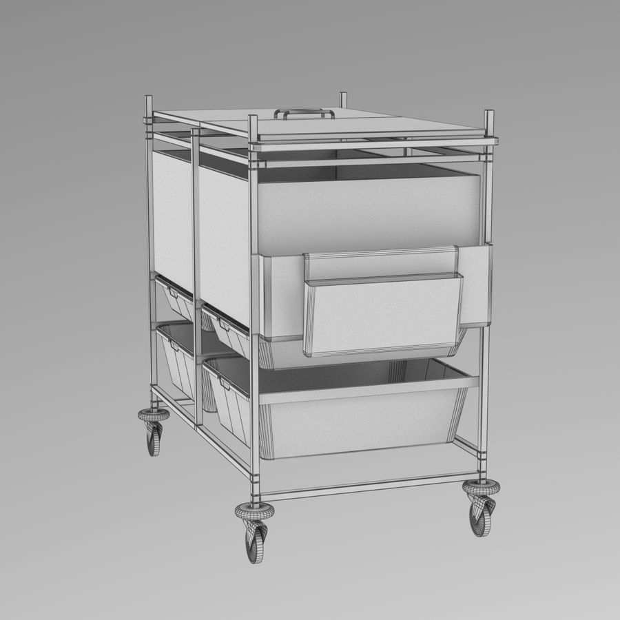 Medical Cart 2 royalty-free 3d model - Preview no. 17