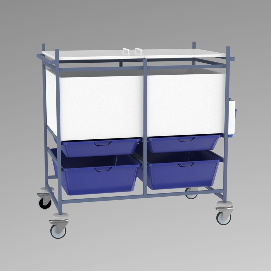 Medical Cart 2 royalty-free 3d model - Preview no. 5