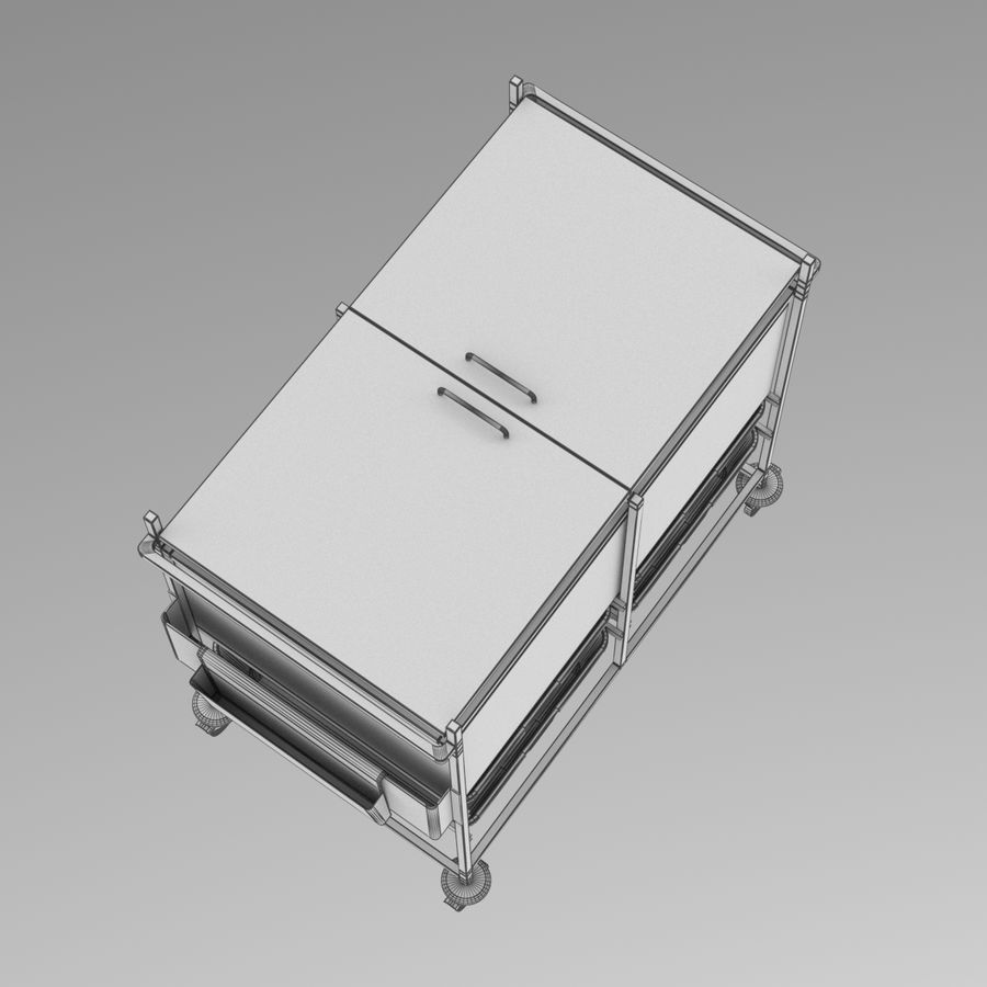 Medical Cart 2 royalty-free 3d model - Preview no. 18