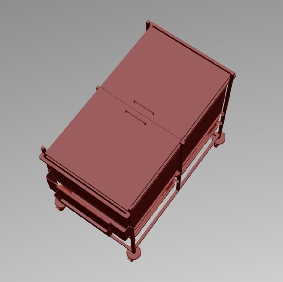 Medical Cart 2 royalty-free 3d model - Preview no. 4