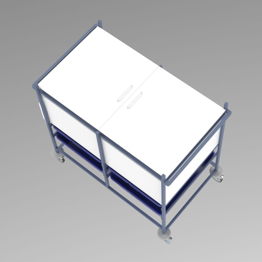 Medical Cart 2 royalty-free 3d model - Preview no. 12