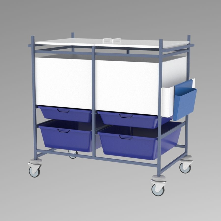Medical Cart 2 royalty-free 3d model - Preview no. 3