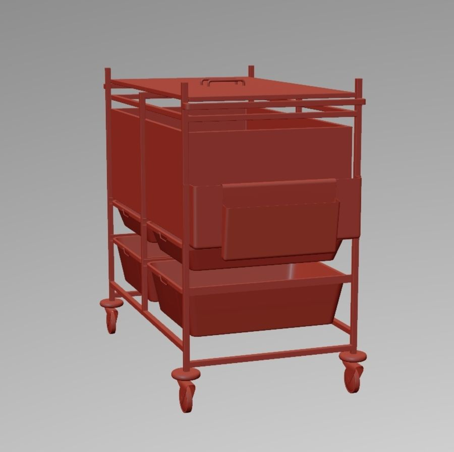 Medical Cart 2 royalty-free 3d model - Preview no. 2