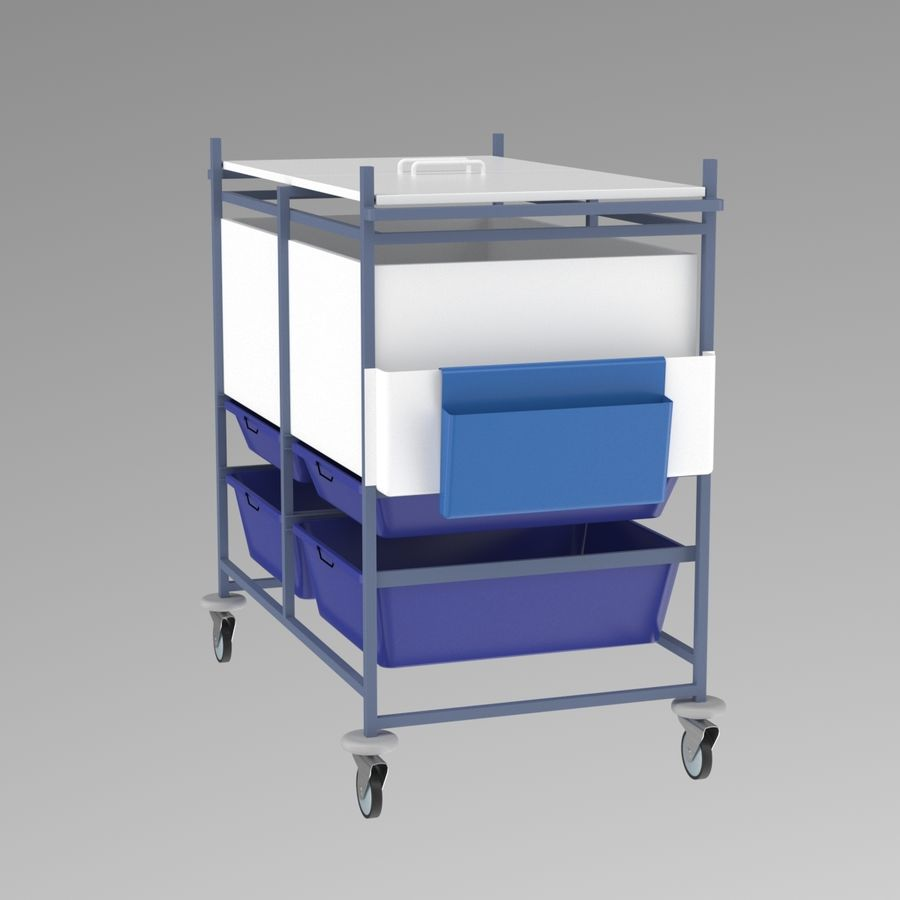 Medical Cart 2 royalty-free 3d model - Preview no. 8