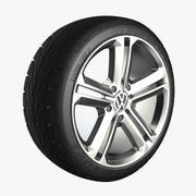 Tire Rim Passat VW 3d model