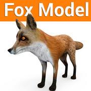 福克斯低聚游戏准备就绪模型 3d model