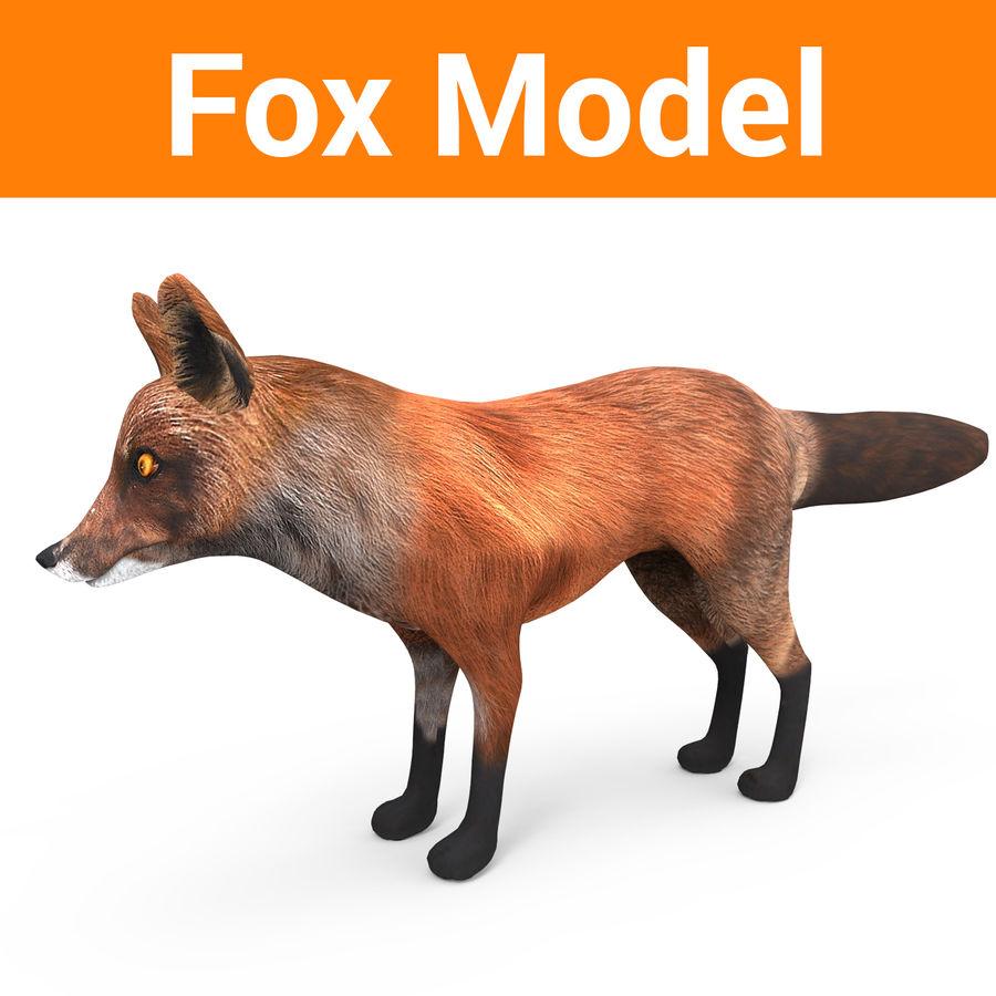 Fox låg poly spel redo royalty-free 3d model - Preview no. 1