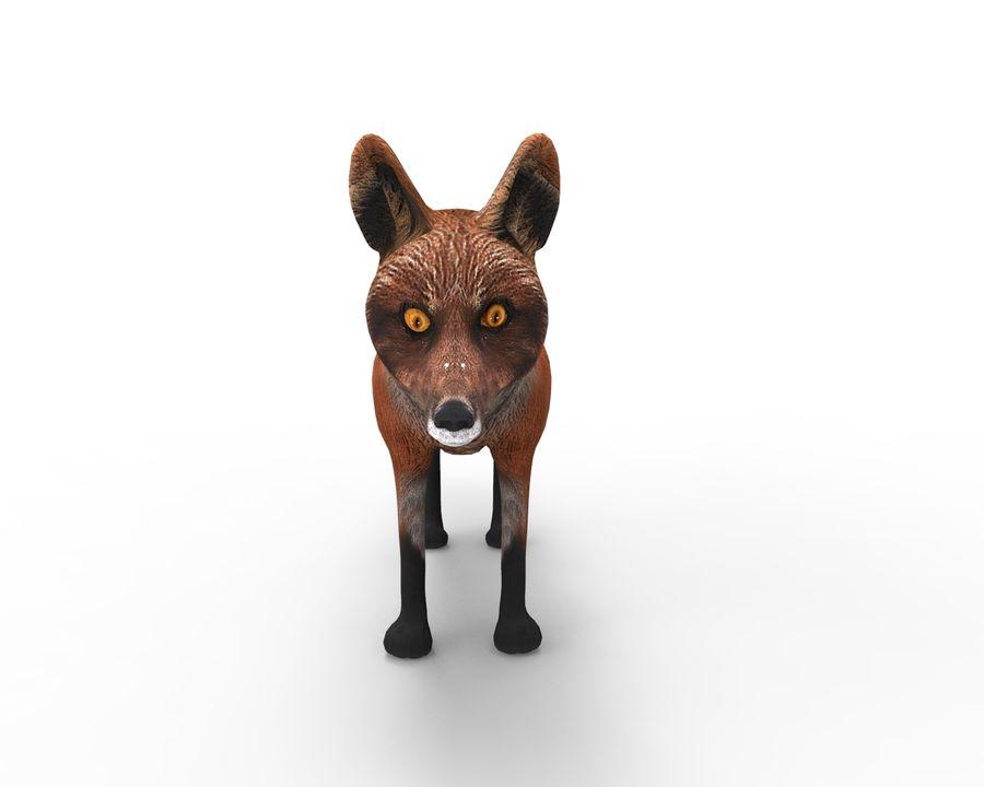 Fox låg poly spel redo royalty-free 3d model - Preview no. 8