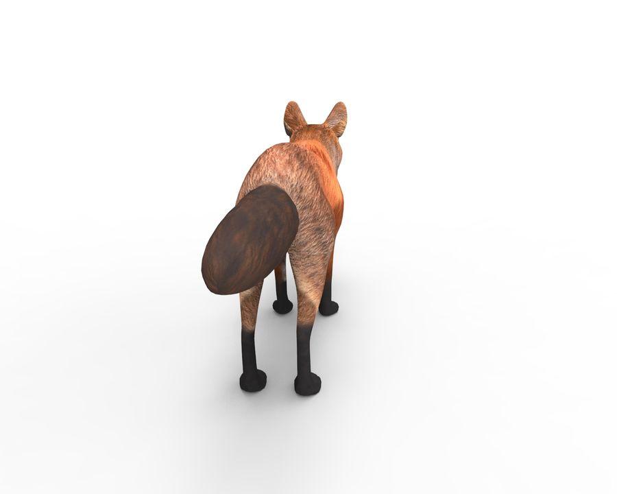 Fox låg poly spel redo royalty-free 3d model - Preview no. 5
