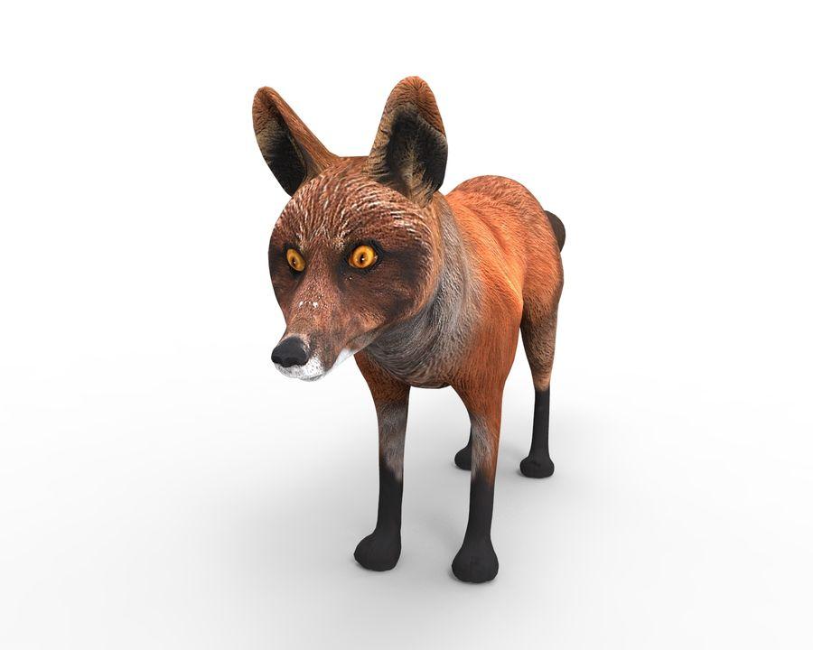 Fox låg poly spel redo royalty-free 3d model - Preview no. 2
