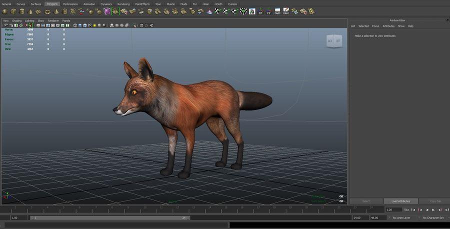 Fox låg poly spel redo royalty-free 3d model - Preview no. 10