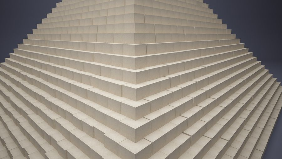 Great Pyramid royalty-free 3d model - Preview no. 3