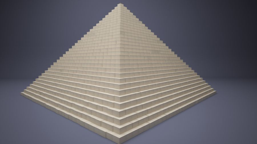 Great Pyramid royalty-free 3d model - Preview no. 4