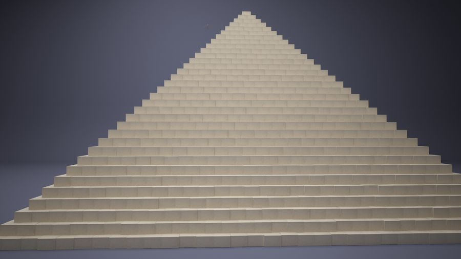 Great Pyramid royalty-free 3d model - Preview no. 5