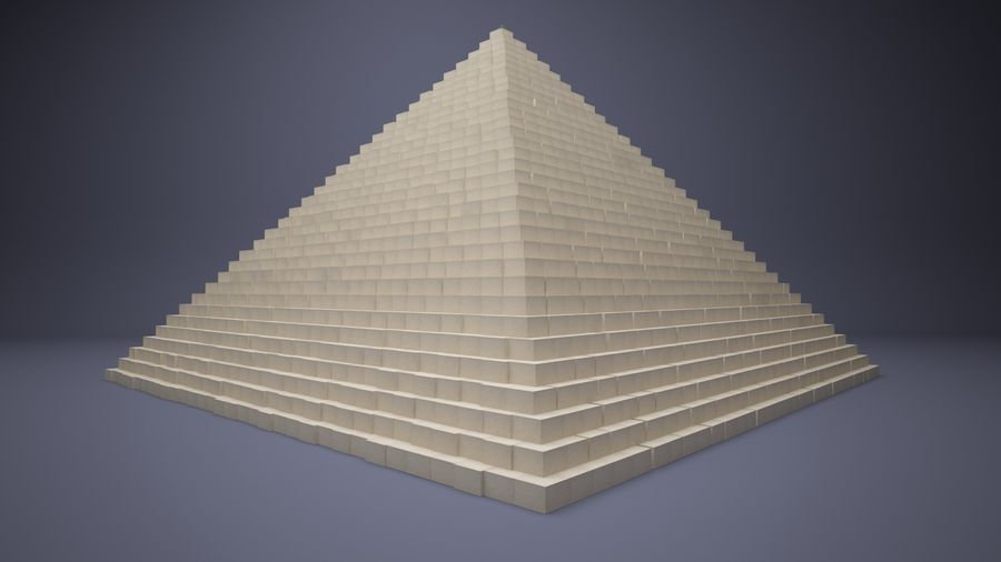 Great Pyramid royalty-free 3d model - Preview no. 1