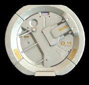 sci-fi_door_04 3d model