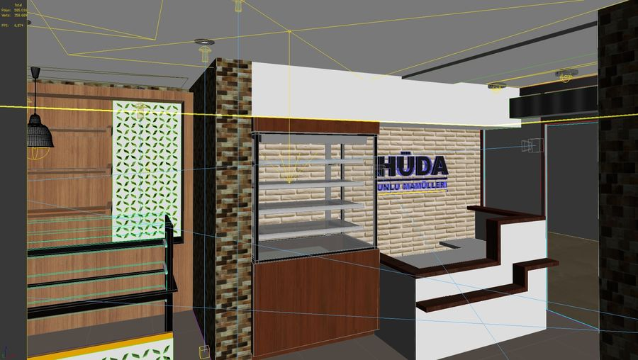 bread Bakery Shop royalty-free 3d model - Preview no. 7