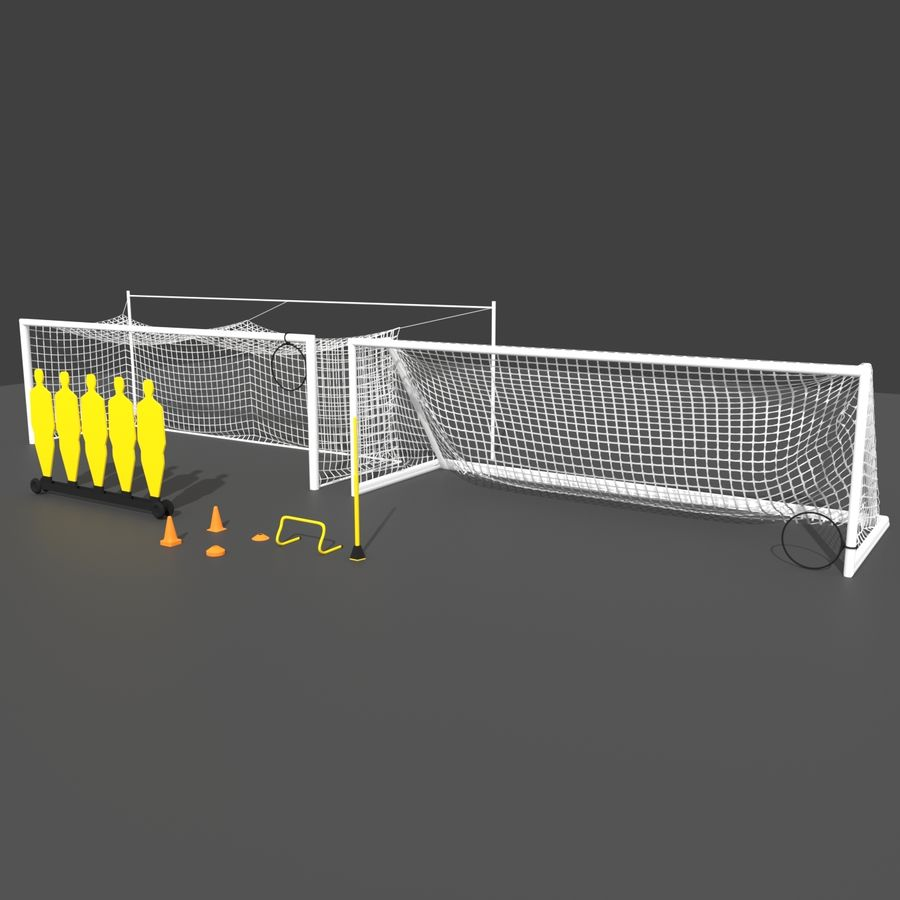 Soccer Equipment royalty-free 3d model - Preview no. 1