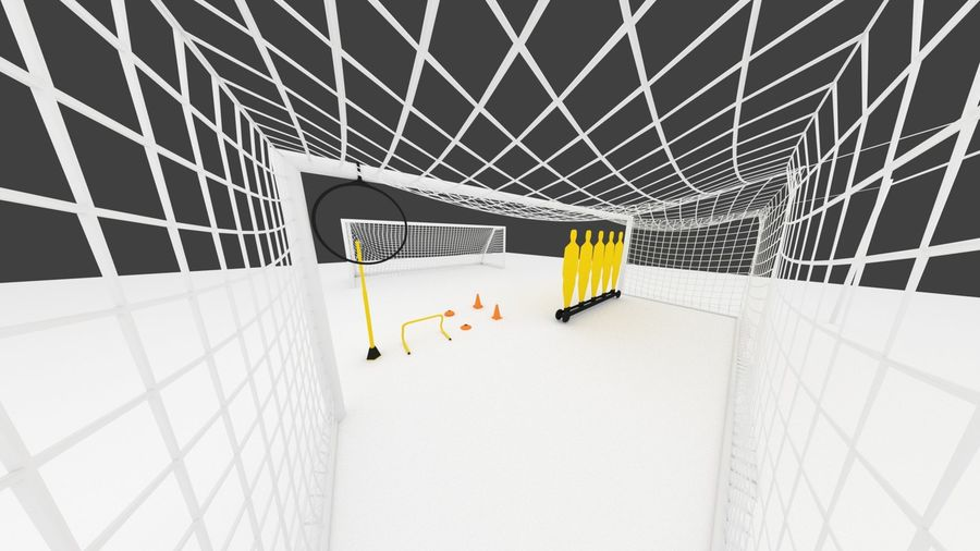 Soccer Equipment royalty-free 3d model - Preview no. 8