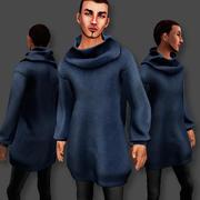 Oversized Male Sweater 3d model