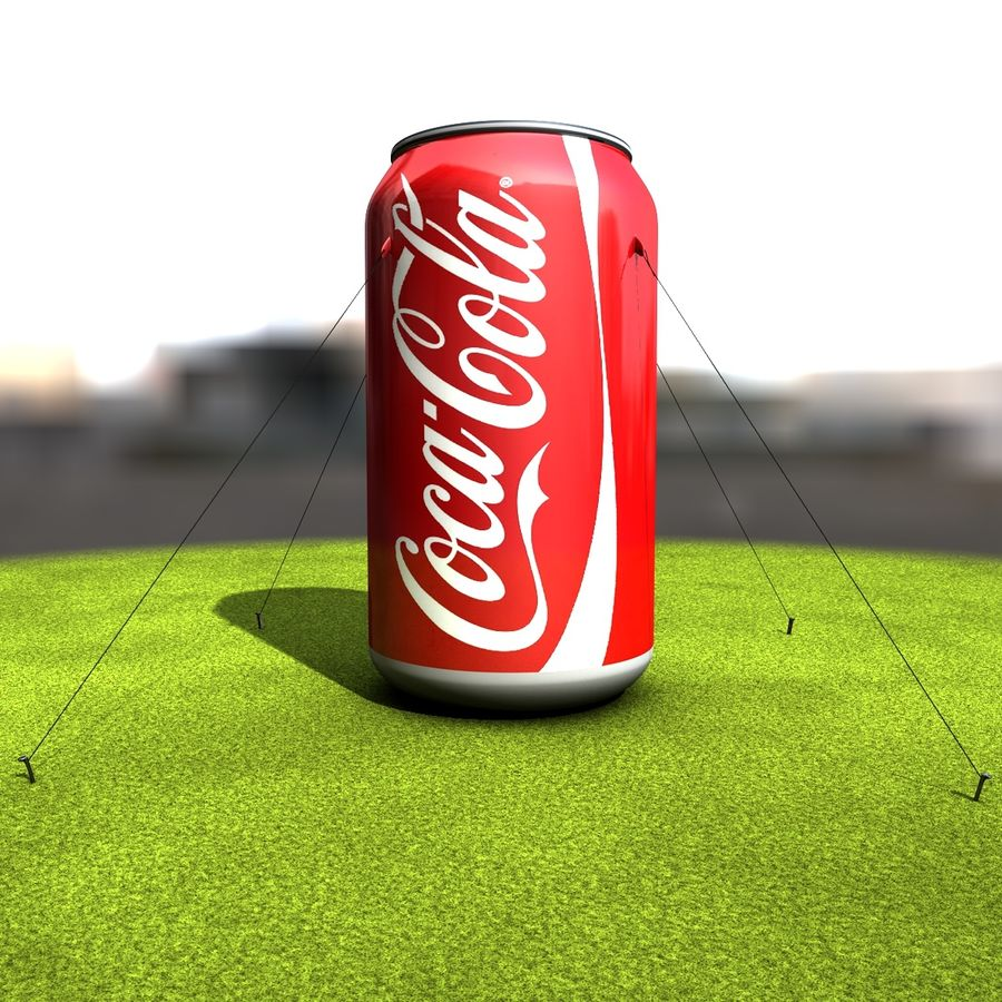 Inflatable can royalty-free 3d model - Preview no. 2