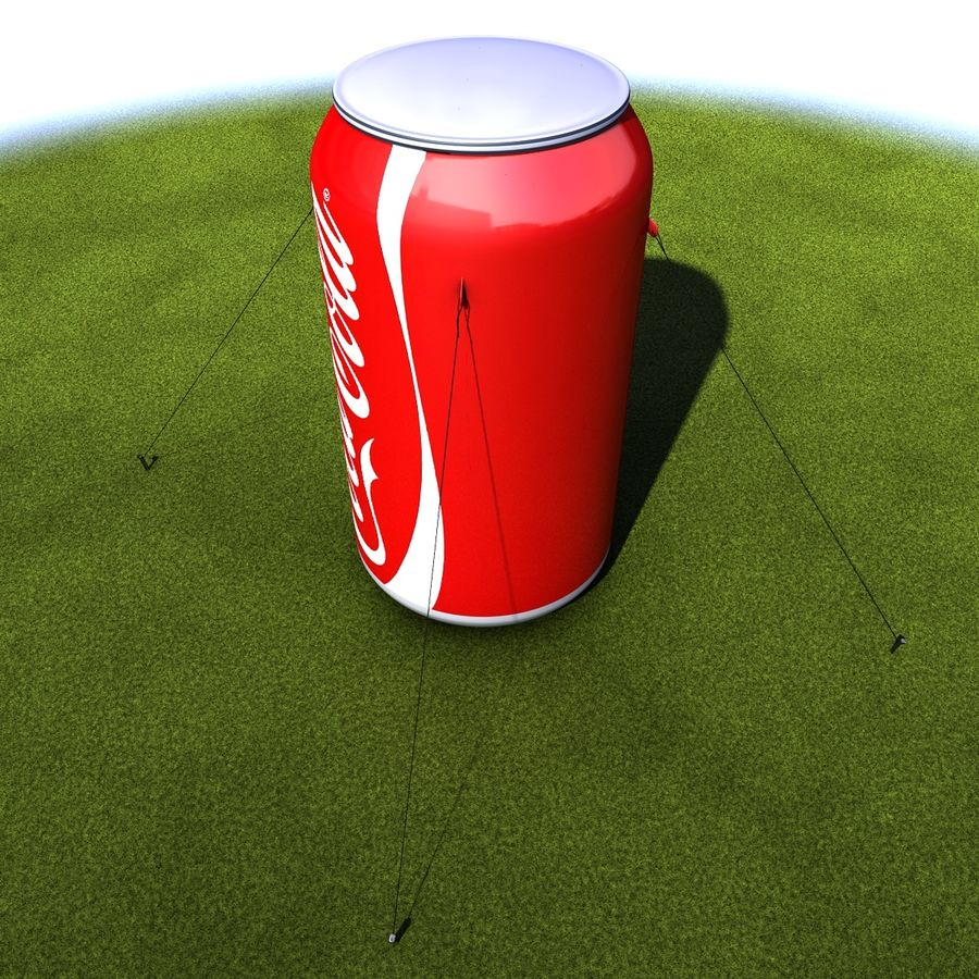 Inflatable can royalty-free 3d model - Preview no. 6