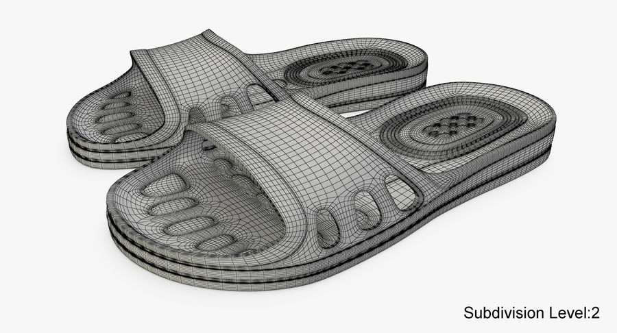 Crocs shoes royalty-free 3d model - Preview no. 13