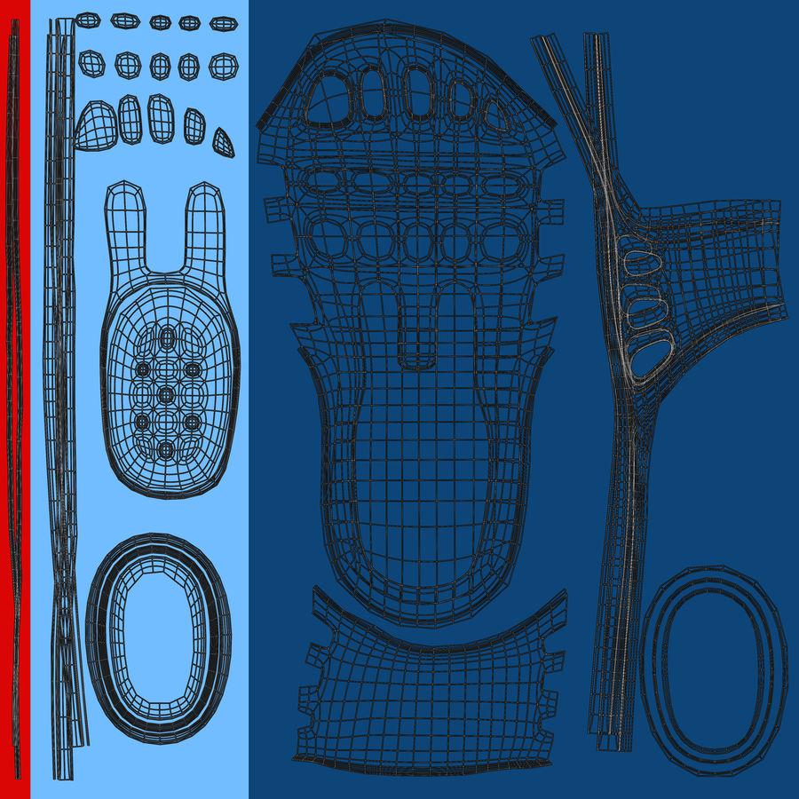 Crocs shoes royalty-free 3d model - Preview no. 9