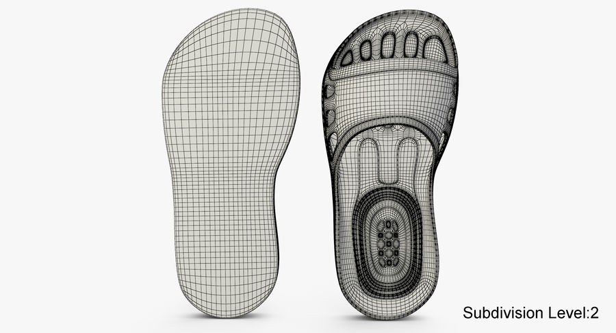 Crocs shoes royalty-free 3d model - Preview no. 11