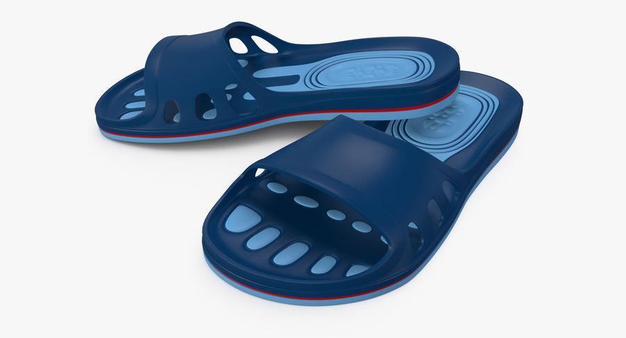 Crocs shoes royalty-free 3d model - Preview no. 7