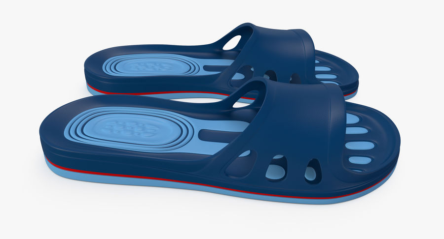 Crocs shoes royalty-free 3d model - Preview no. 4