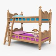 Double floor bed 3d model