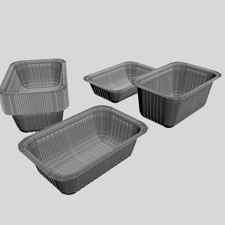 Size Food Containers royalty-free 3d model - Preview no. 7