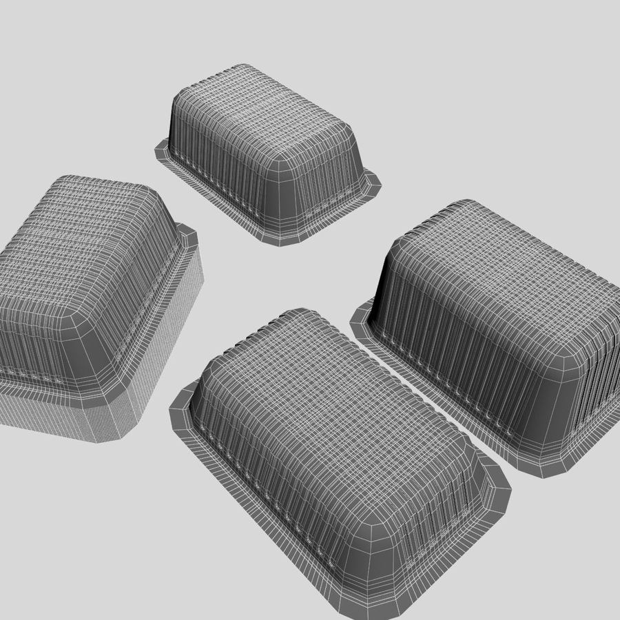 Size Food Containers royalty-free 3d model - Preview no. 9