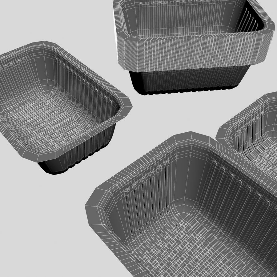 Size Food Containers royalty-free 3d model - Preview no. 8