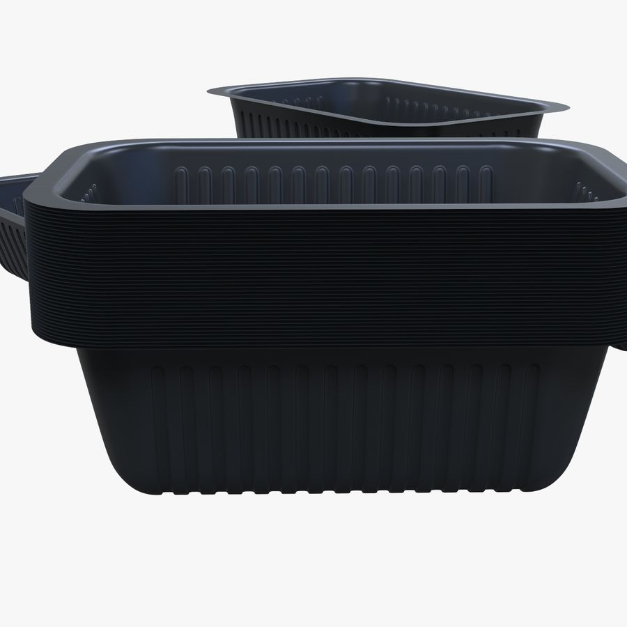 Size Food Containers royalty-free 3d model - Preview no. 6