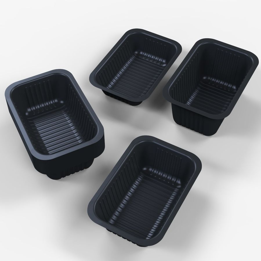 Size Food Containers royalty-free 3d model - Preview no. 4