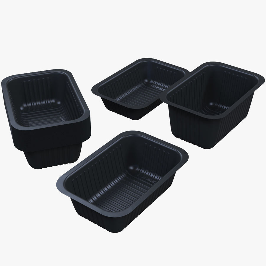 Size Food Containers royalty-free 3d model - Preview no. 1