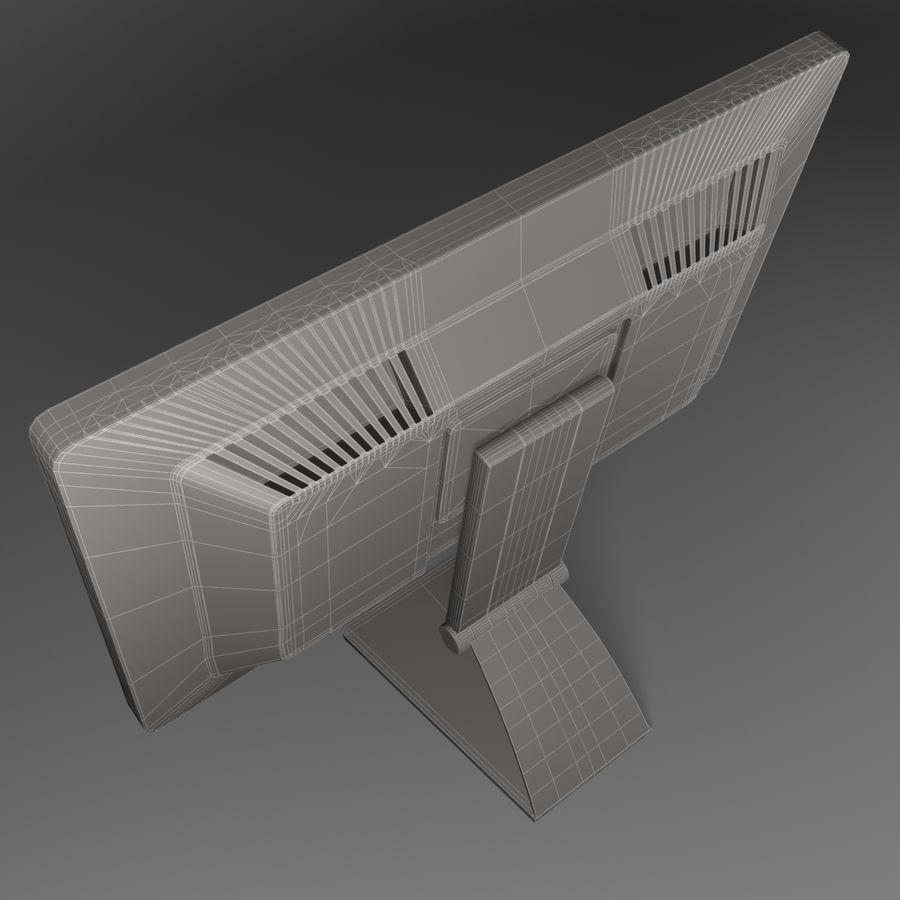 Generic PC Monitor royalty-free 3d model - Preview no. 8