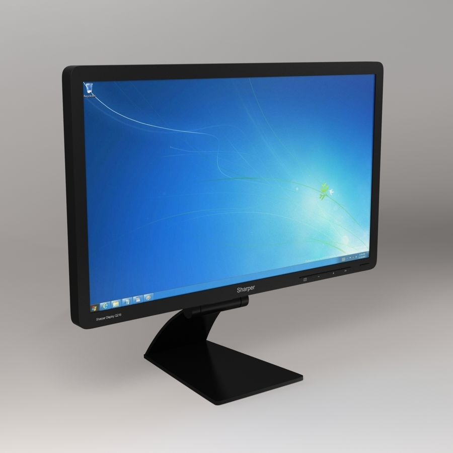 Generic PC Monitor royalty-free 3d model - Preview no. 1